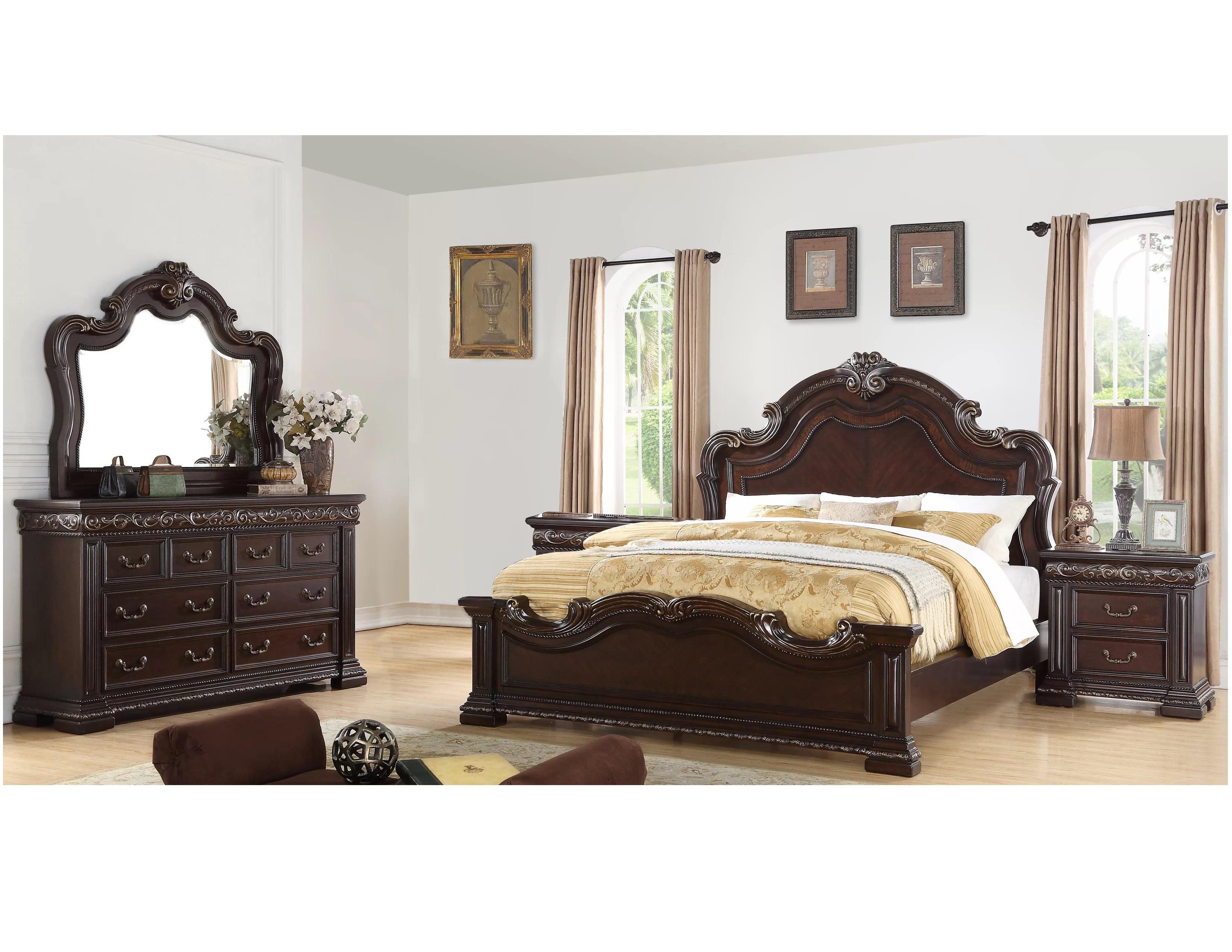 bannruod standard solid wood 5 piece bedroom set