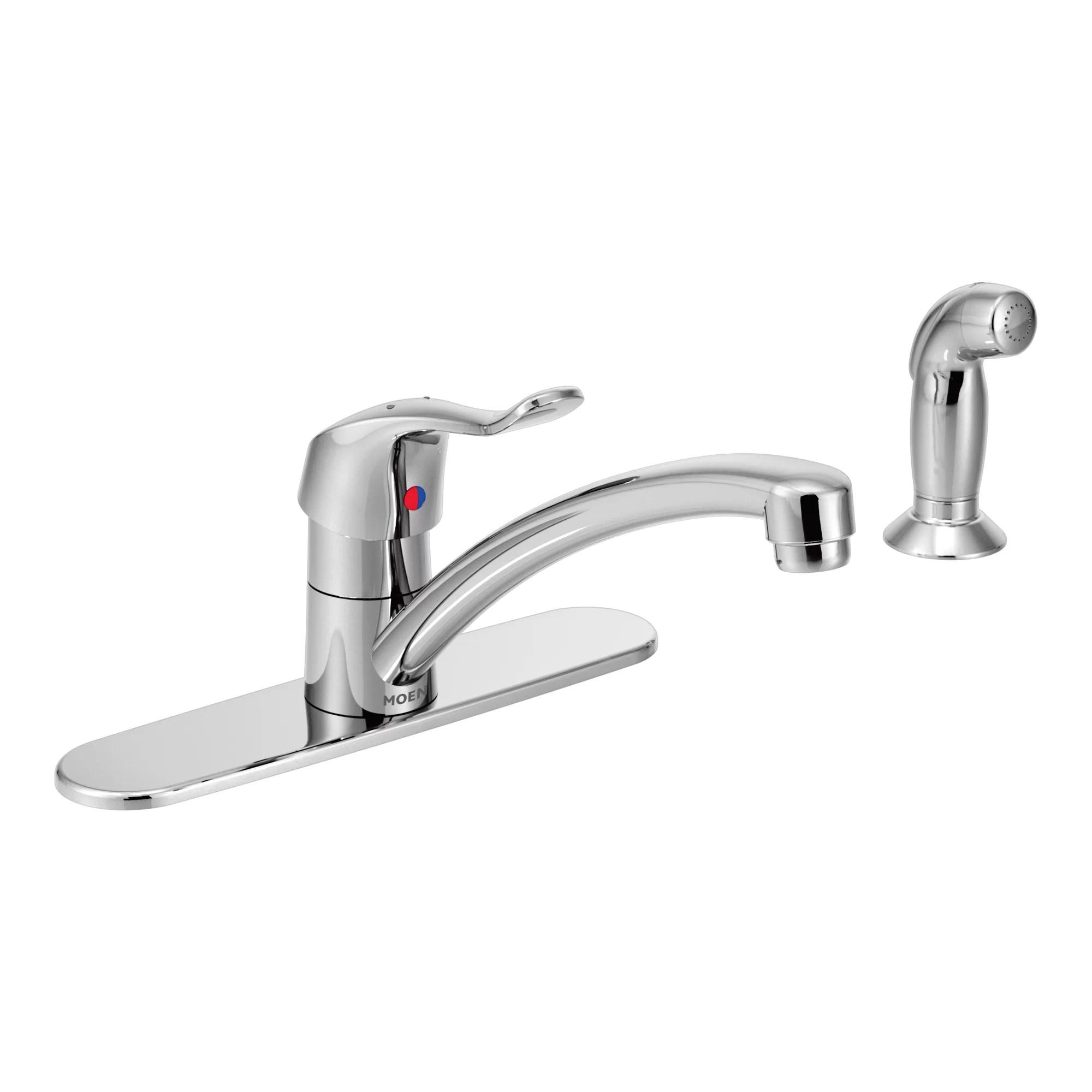 m dura one handle low arc kitchen faucet