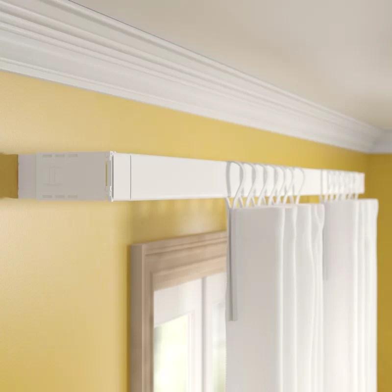 shanell wide pocket single curtain rod