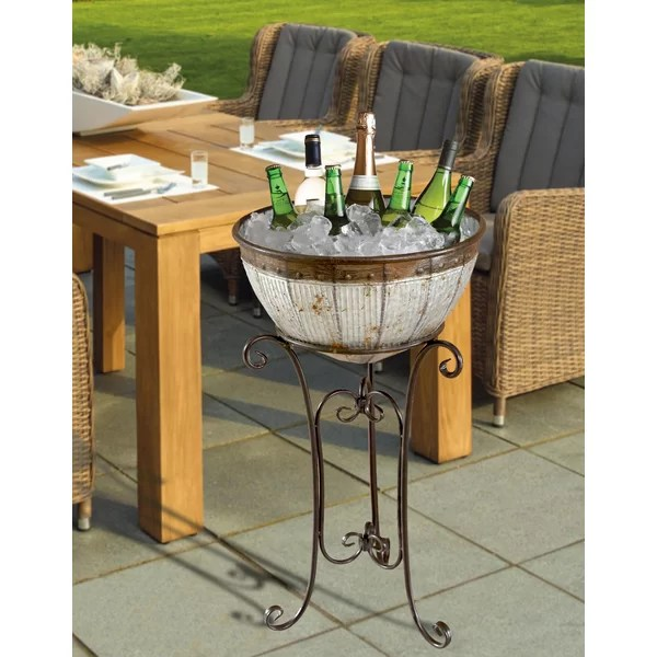 beverage cooler with stand