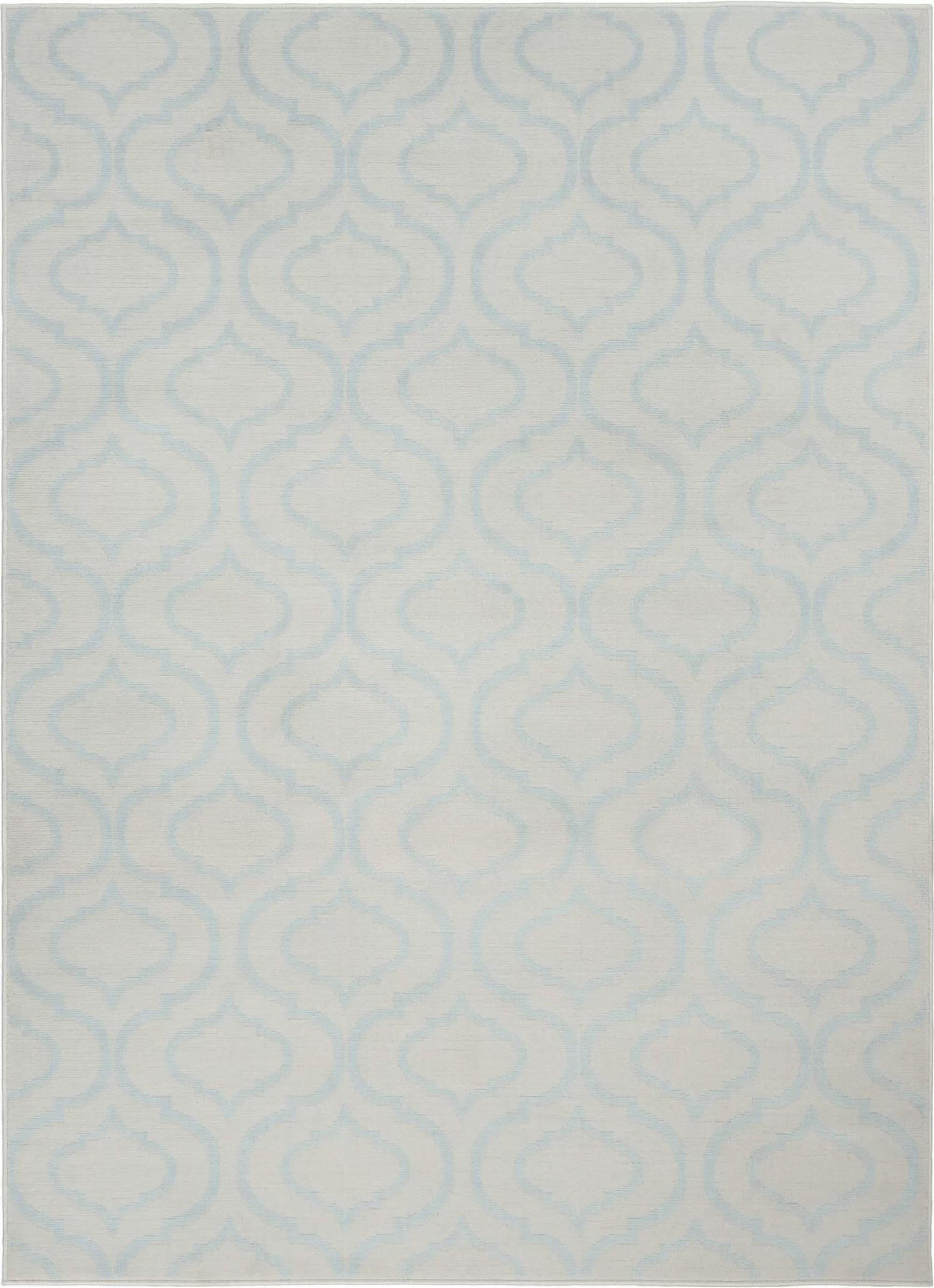 Waverly Baby Eloy Geometric Ivory Light Blue Area Rug