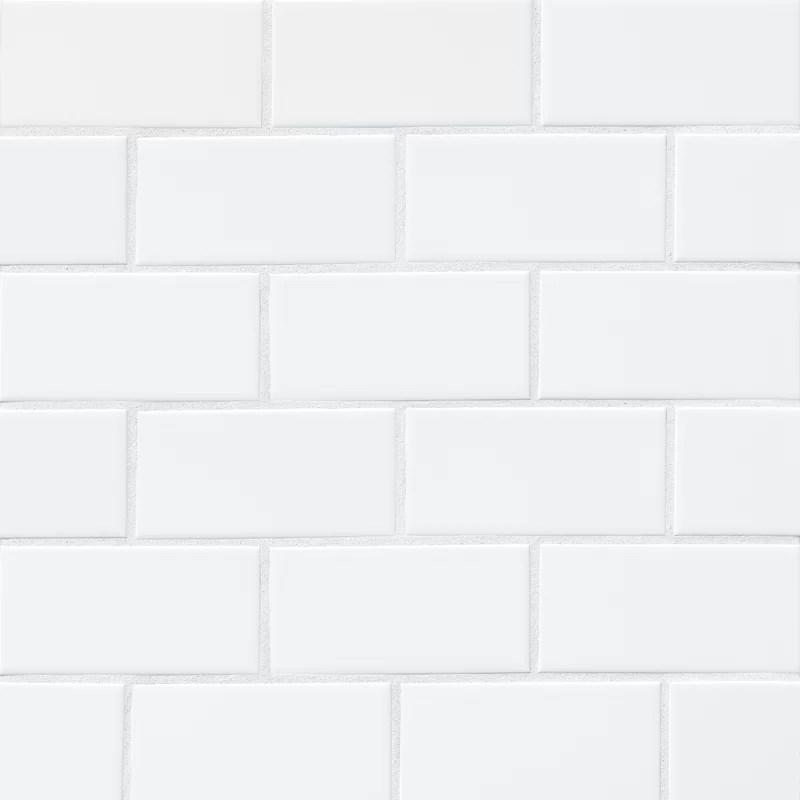 nantucket 3 x 6 ceramic subway tile