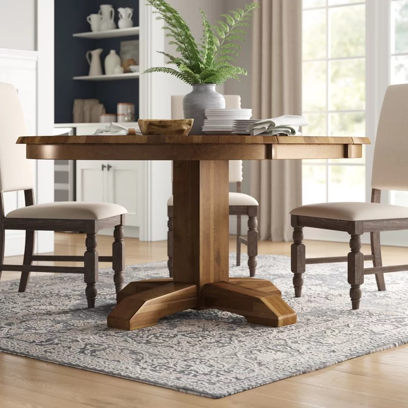one allium way ian extendable solid wood dining table on solid wood dining table id=21412