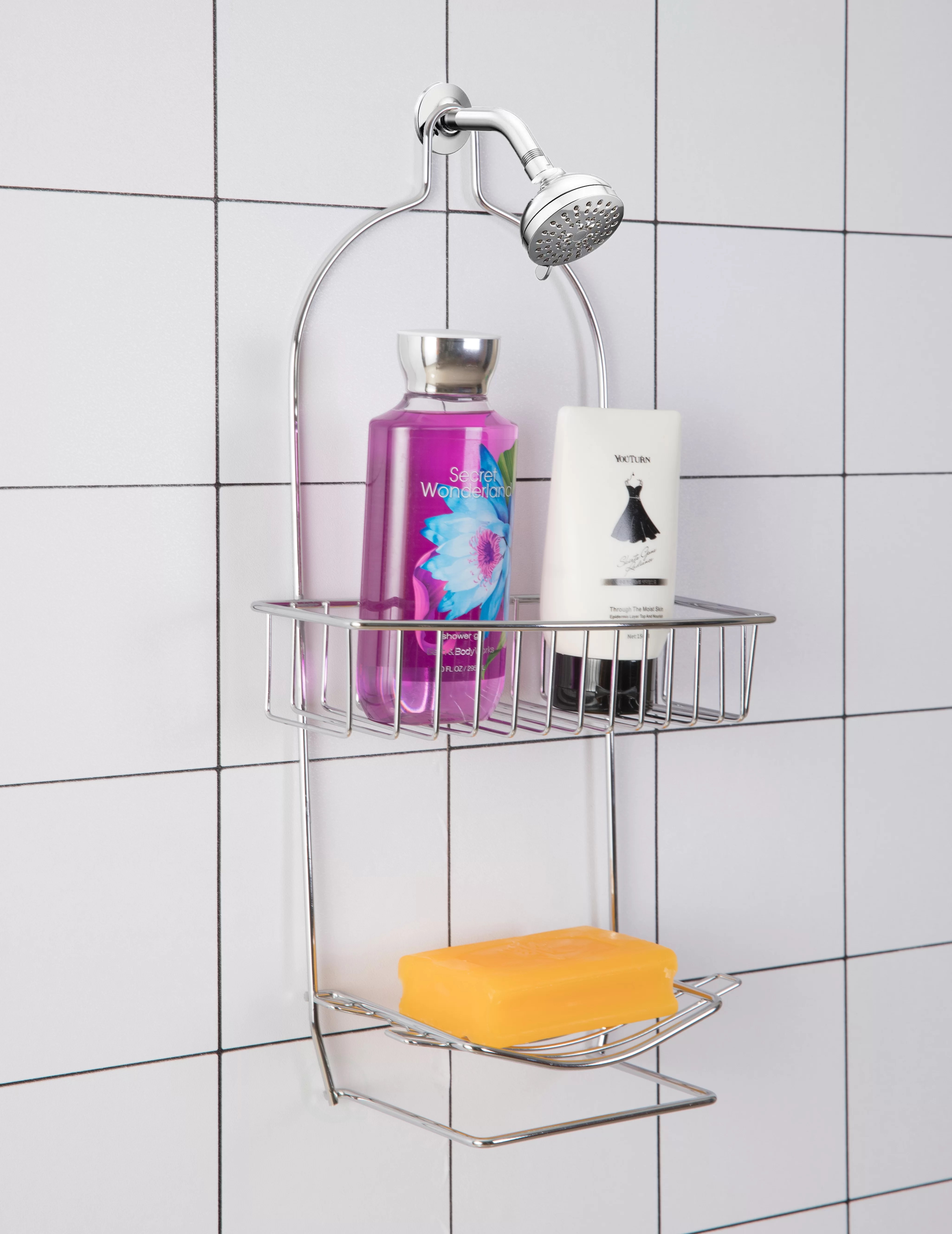 rebrilliant metal wire bathroom shower storage rack wayfair