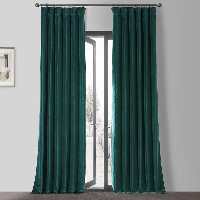 esbiorn vintage cotton solid color rod pocket single curtain panel