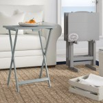 Breakwater Bay Ally 5 Piece Tv Tray Table Set With Compass Reviews Wayfair