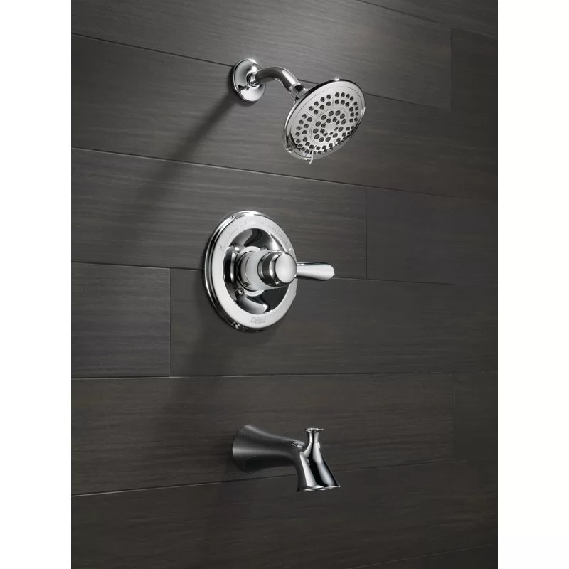 lahara pressure balanced tub and shower faucet with monitor