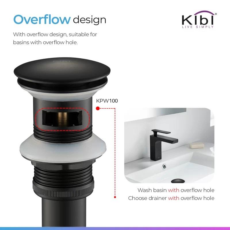 pop up bathroom sink drain with overflow