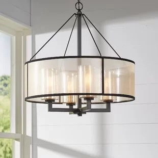 Drum Chandeliers You ll Love   Wayfair Dailey 4 Light Chandelier