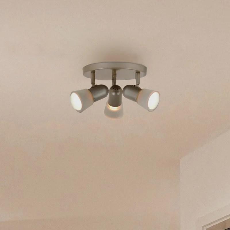 3 light adjustable track ceiling canopy
