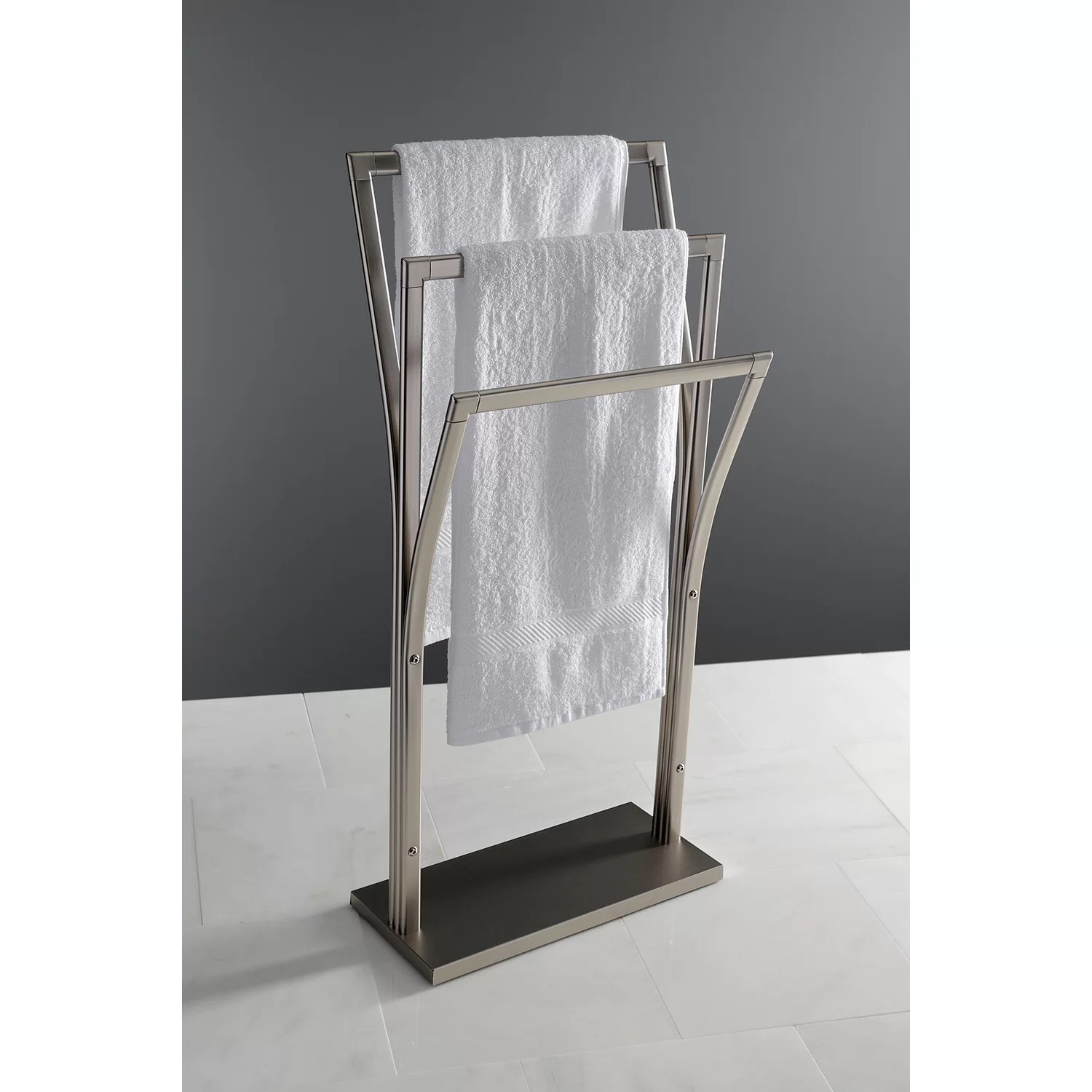 Kingston Brass Edenscape Pedestal Y Style Free Standing Towel Stand Reviews