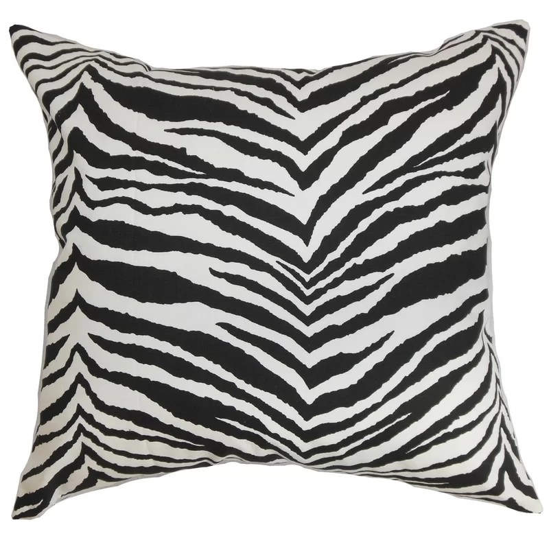 cecania zebra print cotton throw pillow cover