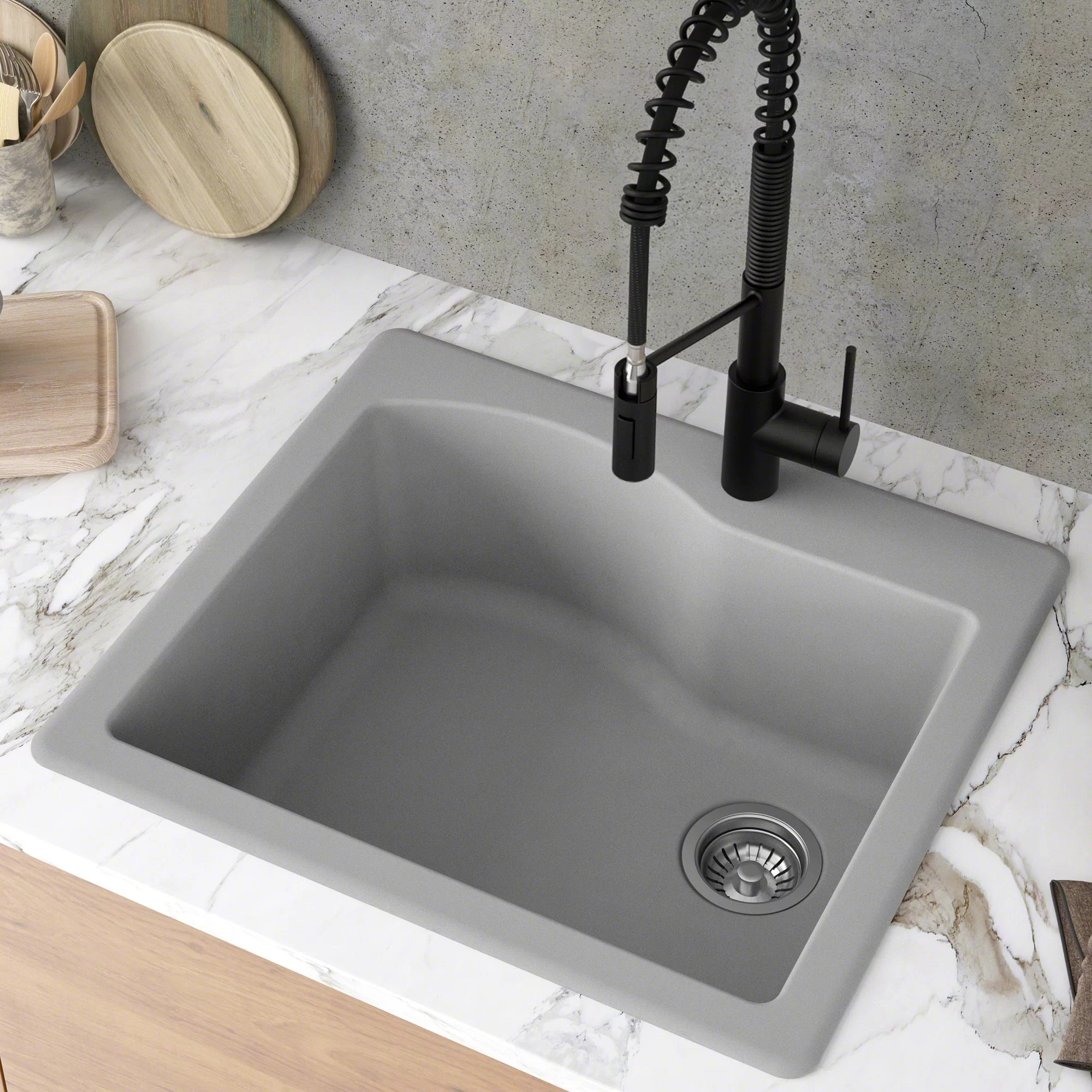 gray kitchen sinks free shipping over