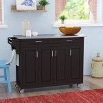 August Grove Regiene Kitchen Island With Stainless Steel Top Reviews