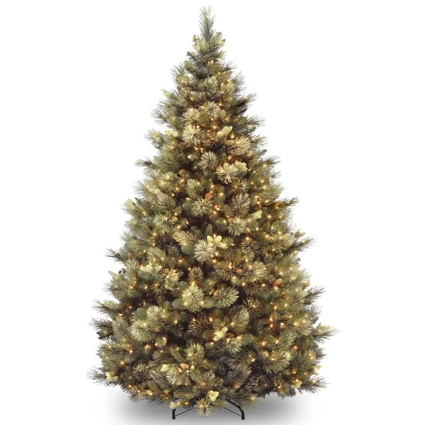 Laurel Foundry Modern Farmhouse Carolina Pine Green Artificial Christmas Tree With Clear White Lights Reviews Wayfair