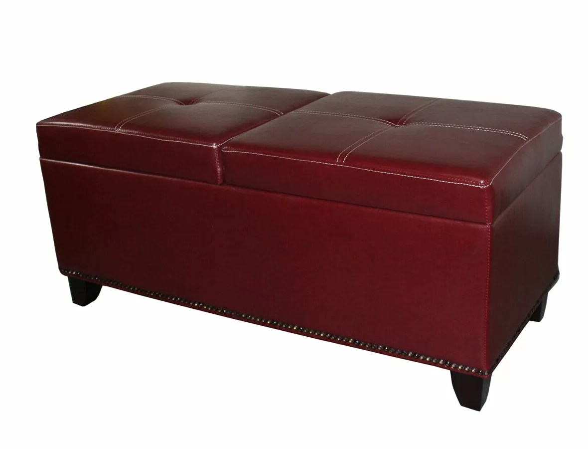 mclaughlin faux leather storage bench