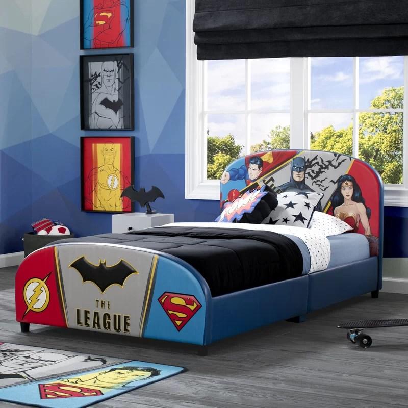 dc comics justice league twin platform bed
