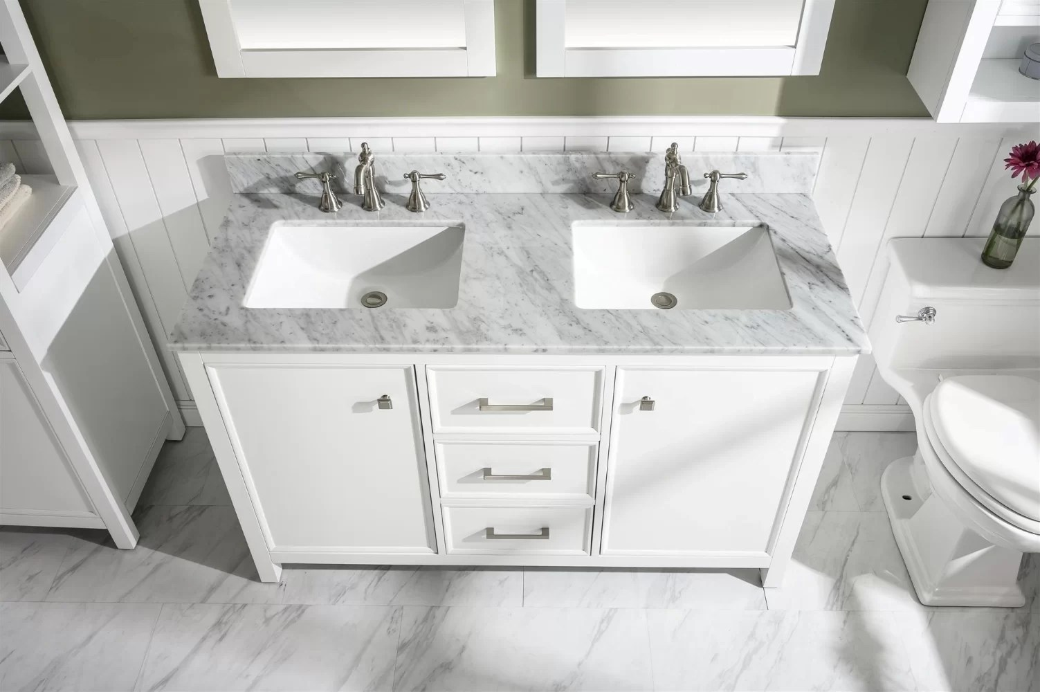 malmberg 54 double bathroom vanity set