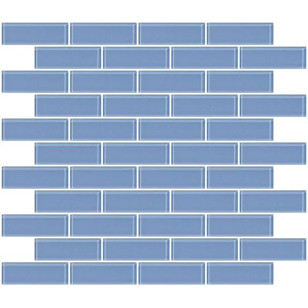 kimalee 1 x 3 glass subway tile in light periwinkle blue