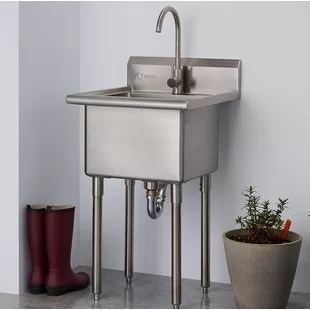 21 5 l x 24 w free standing laundry sink with faucet
