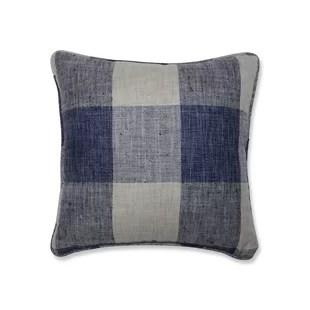 blue buffalo check throw pillows you ll