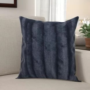 donalsonville indoor faux fur throw pillow set of 2