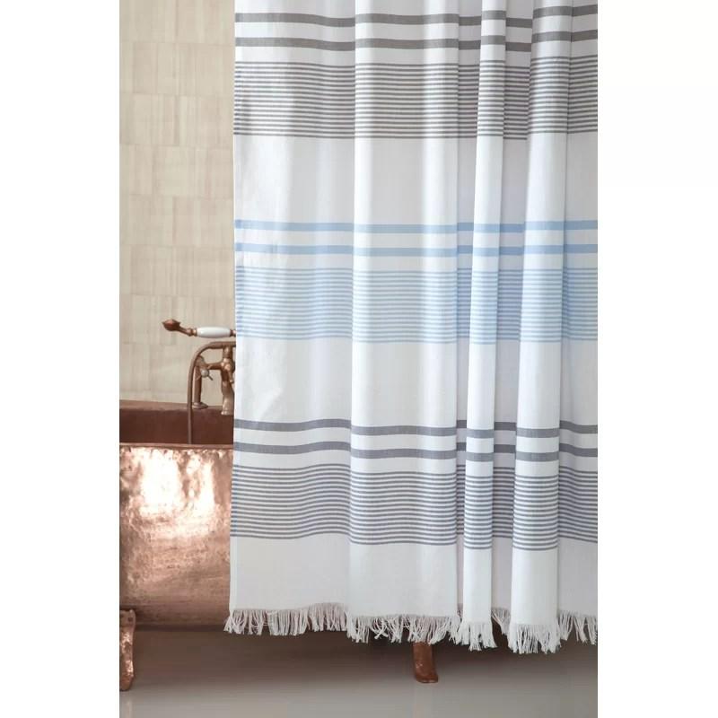zepeda 100 cotton striped single shower curtain