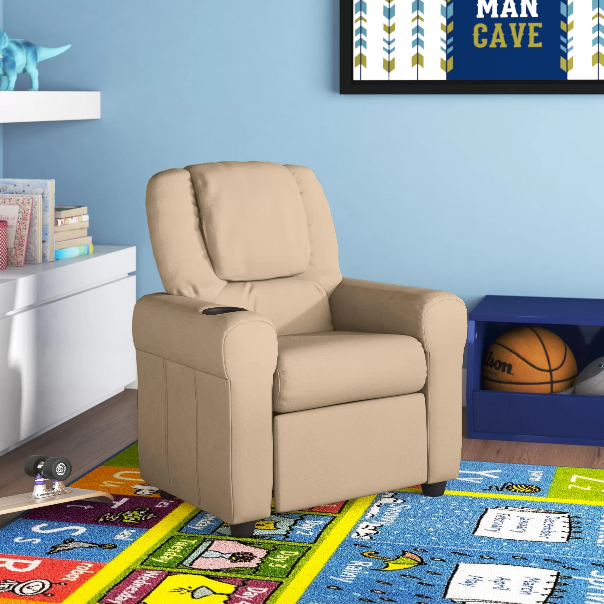 forman kids recliner with cup holder