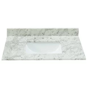 granite 31 single bathroom vanity top