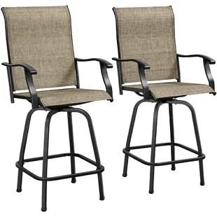 2pcs swivel bar stools