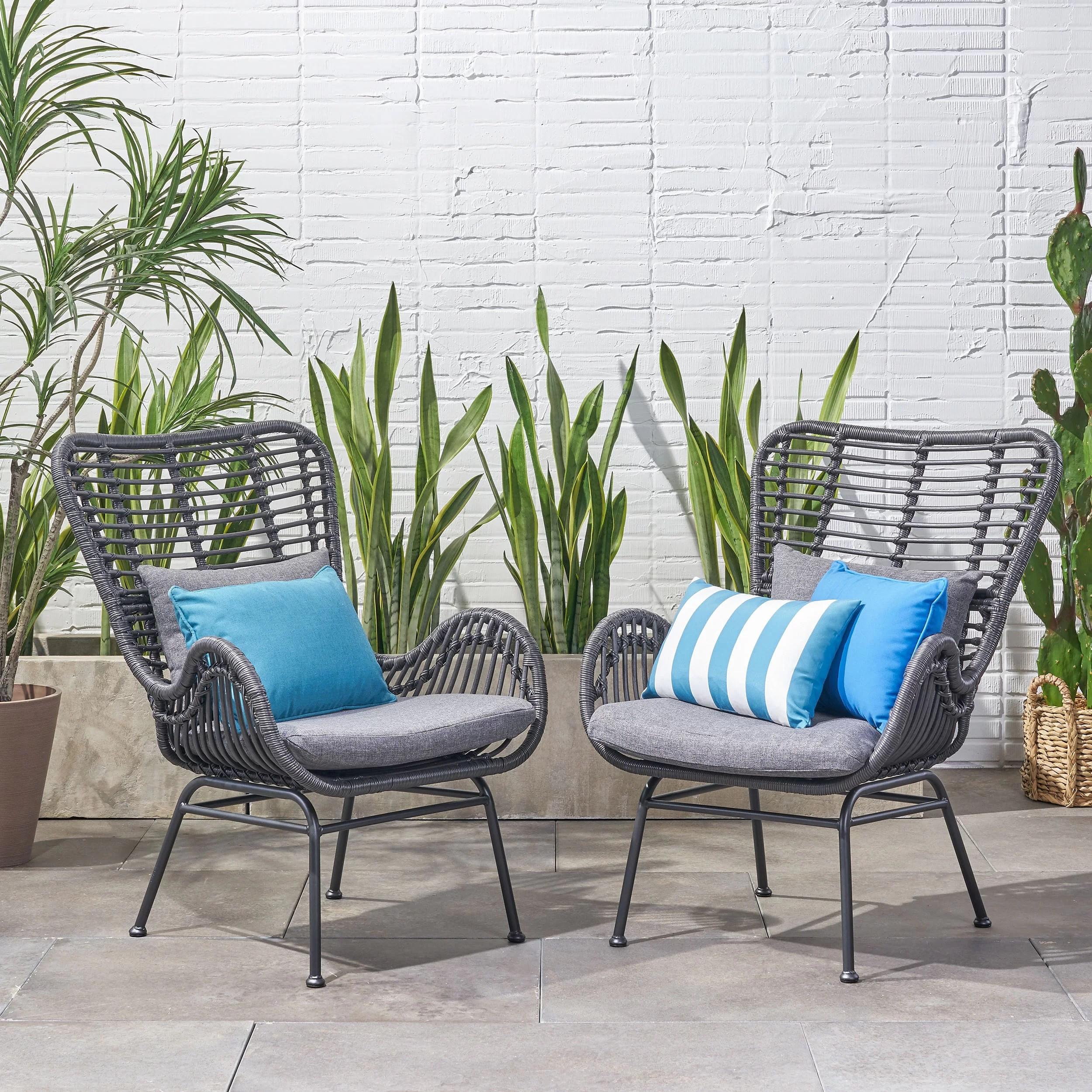 tapscott wicker patio chair with cushions