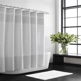 seersucker stripe 100 cotton shower curtain