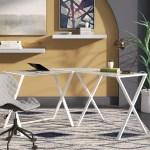 Glass Desks Wayfair