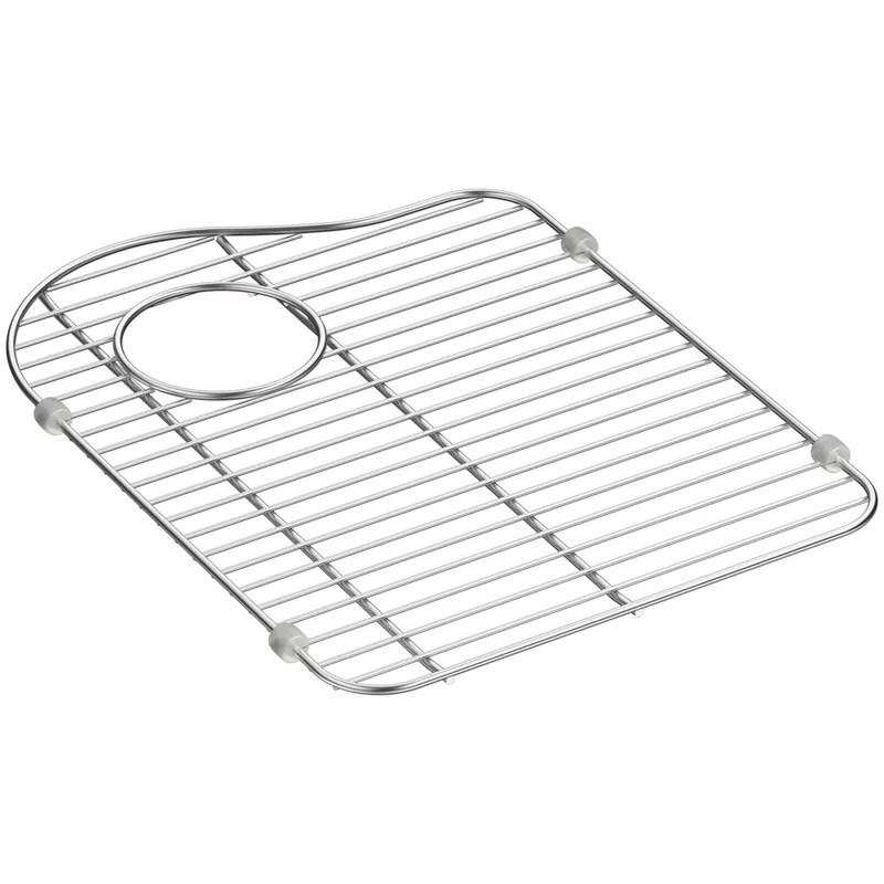 hartland stainless steel sink rack for left hand bowl