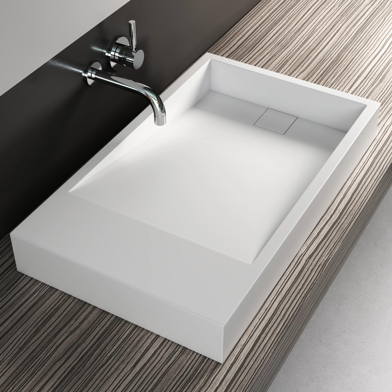 solidtech rectangular vessel bathroom sink