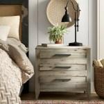Birch Lane Fawcett 3 Drawer Solid Wood Nightstand In Light Gray Reviews