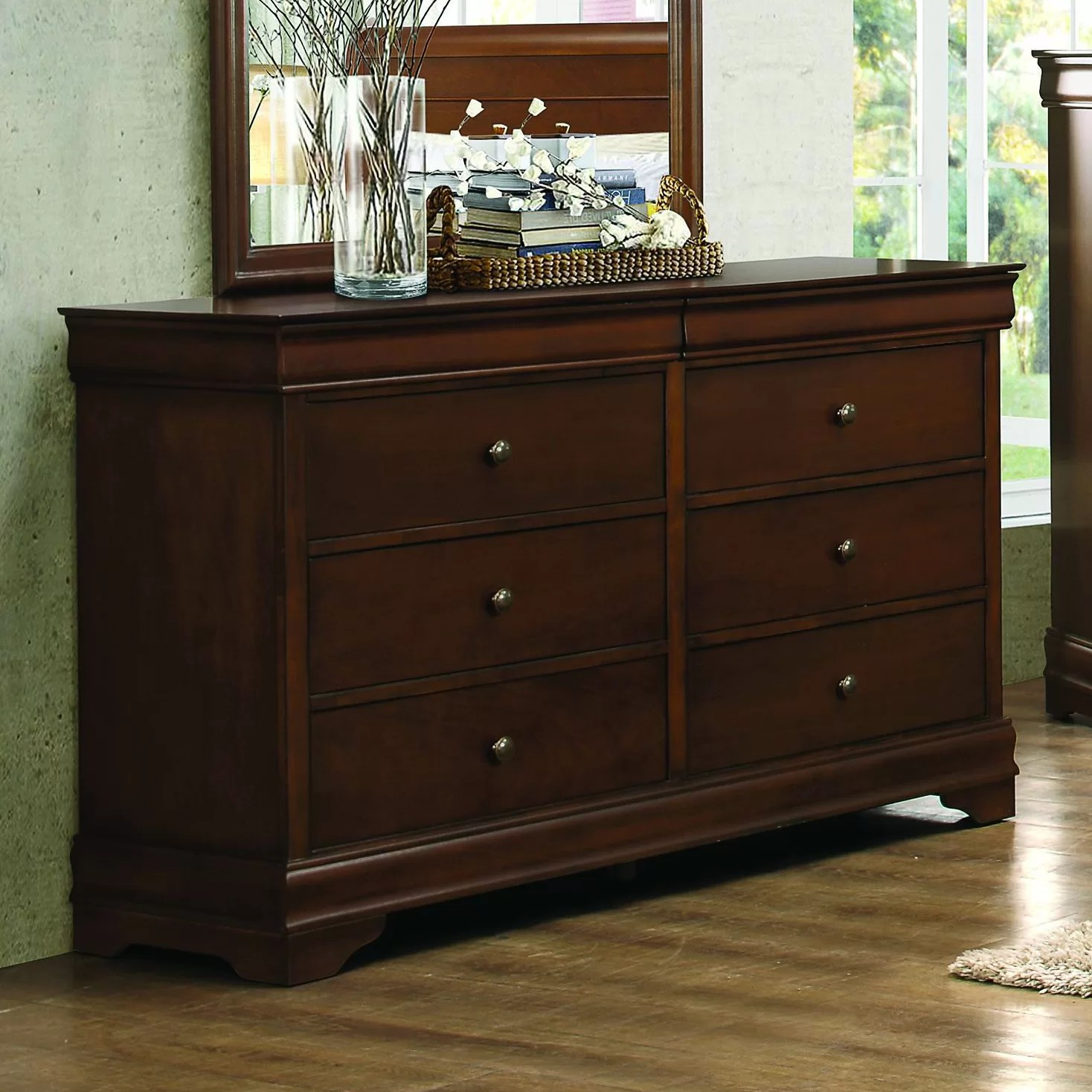 adcock 8 drawer double dresser