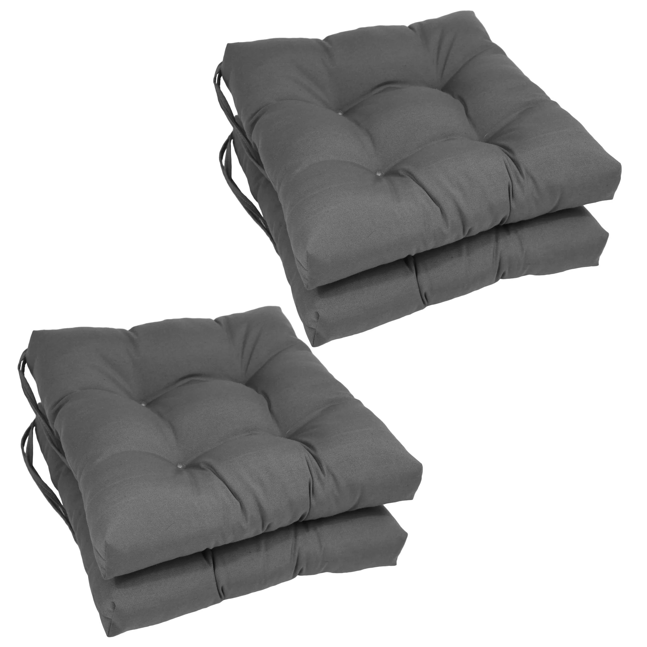 wayfair grey chair seat cushions