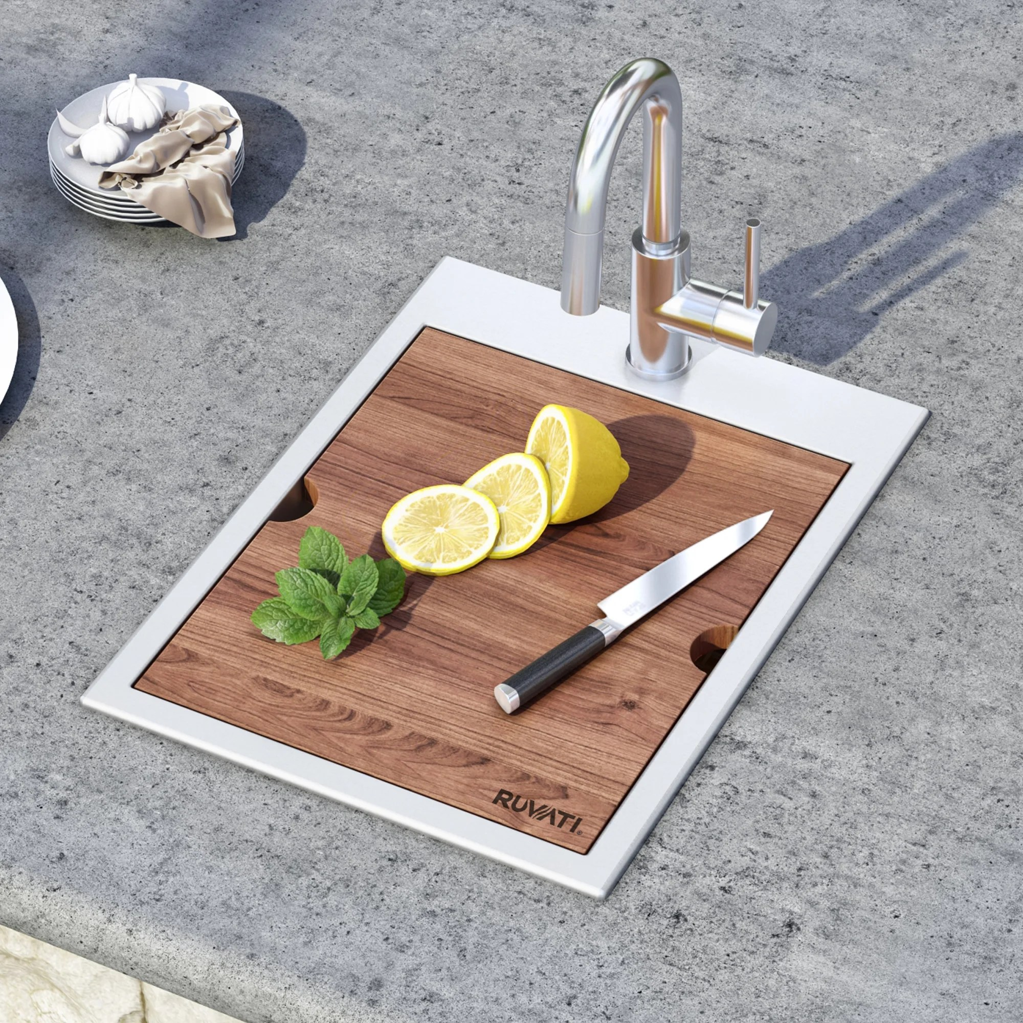 gravena workstation 15 l x 20 w drop in bar sink