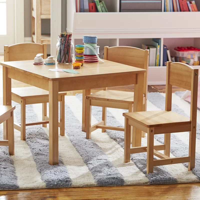 farmhouse kids 5 piece writing table and chair set