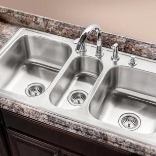 triple kitchen sinks free shipping