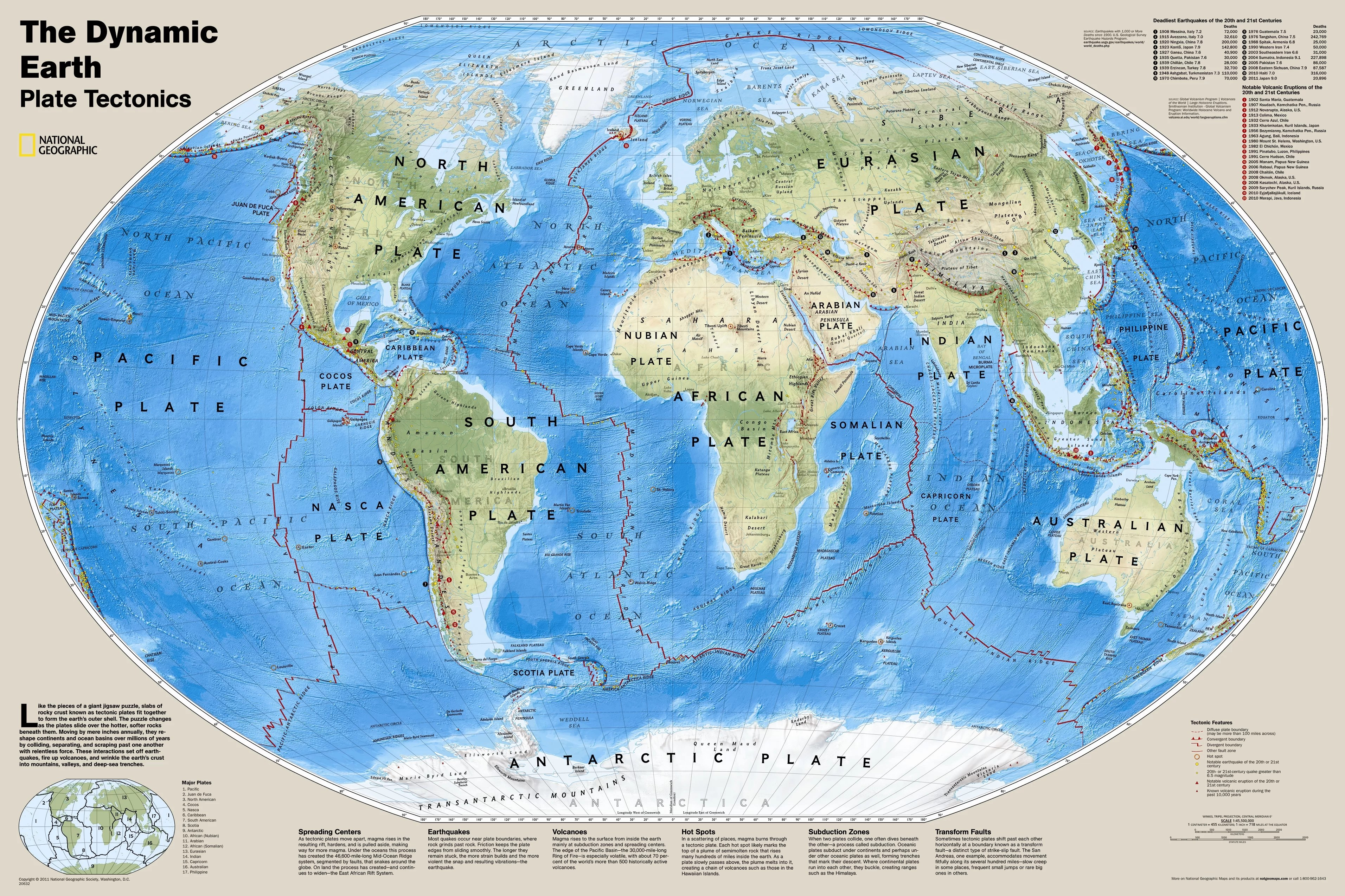 National Geographic Maps The Dynamic Earth Plate