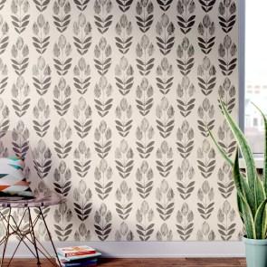 "Ladwig Scandinavian 33' x 20.5"" Block Tulip Floral Wallpaper Roll"