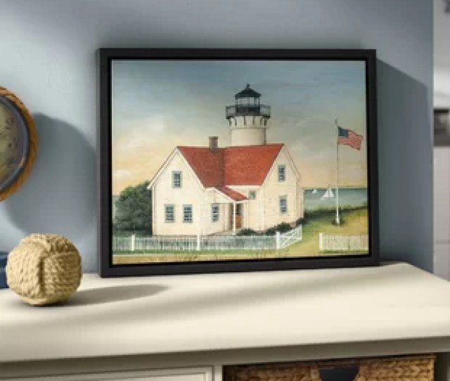 Lighthouse Keepers House Framed Graphic Art