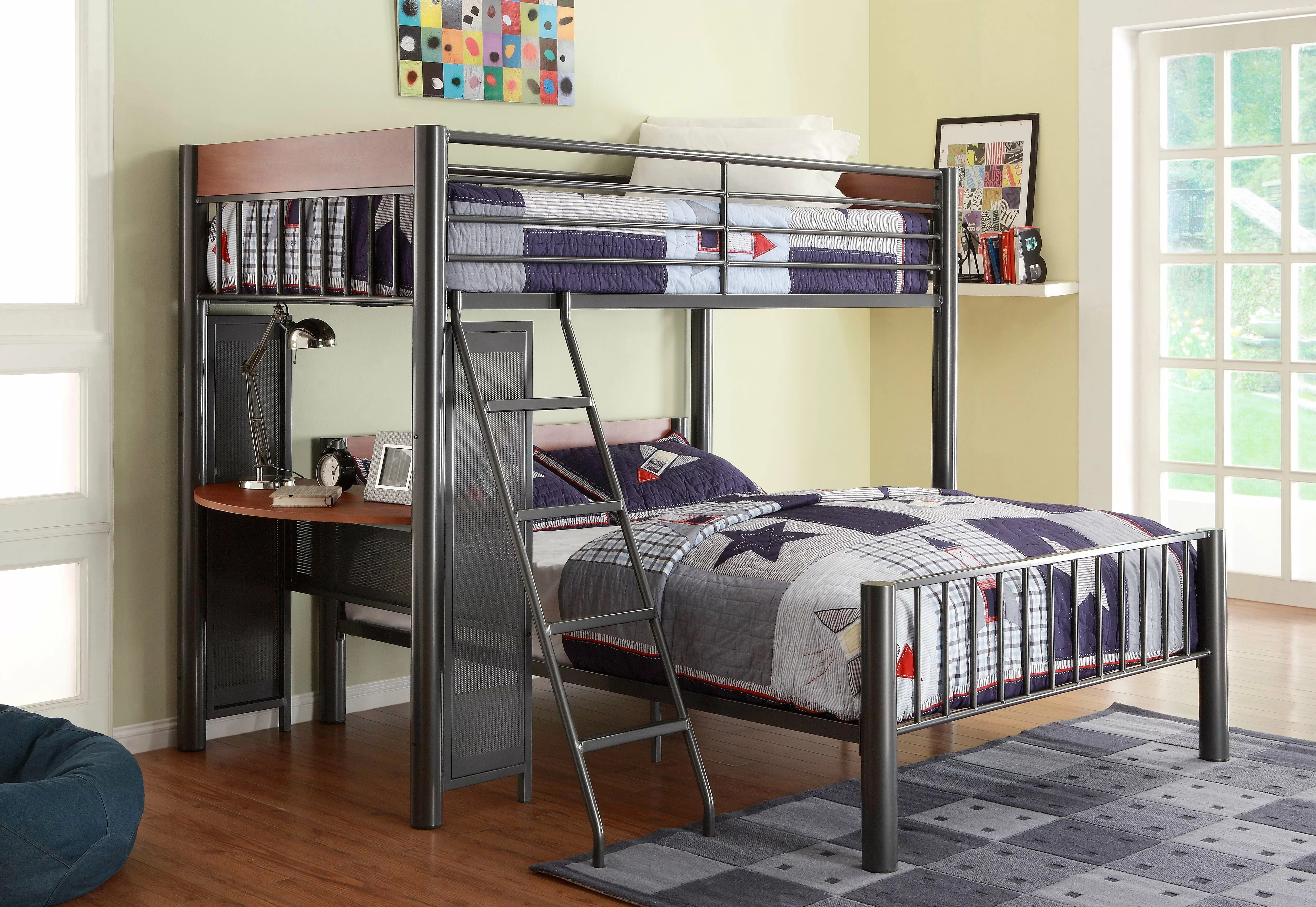Harriet Bee Twyla Twin Over Full L Shaped Bunk Bed Reviews