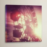 East Urban Home Pink Ferris Wheel Photographic Print On Wrapped Canvas Wayfair