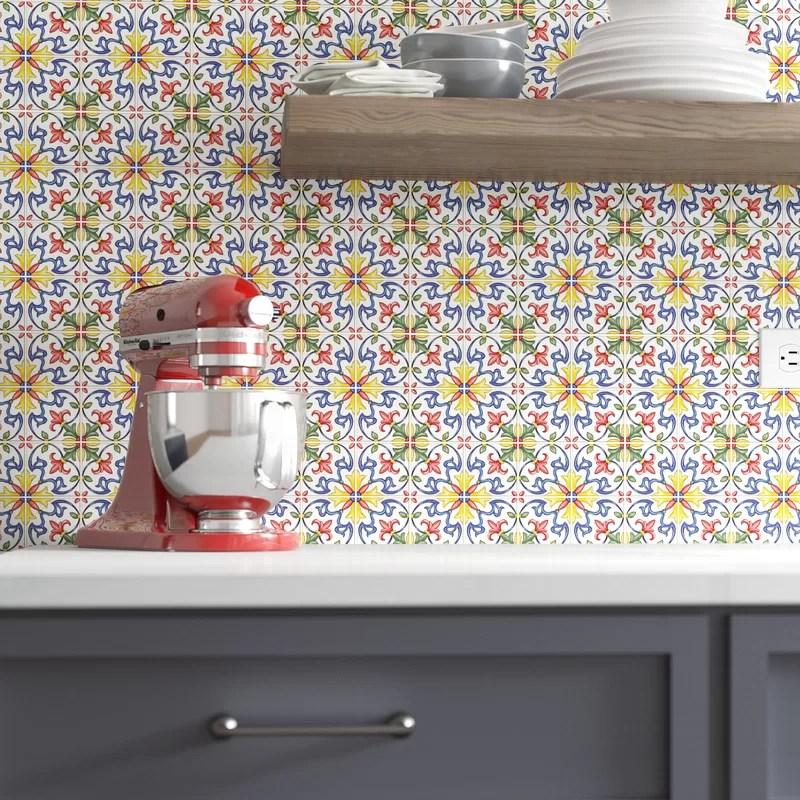 tuscan 10 x 10 resin peel stick mosaic tile