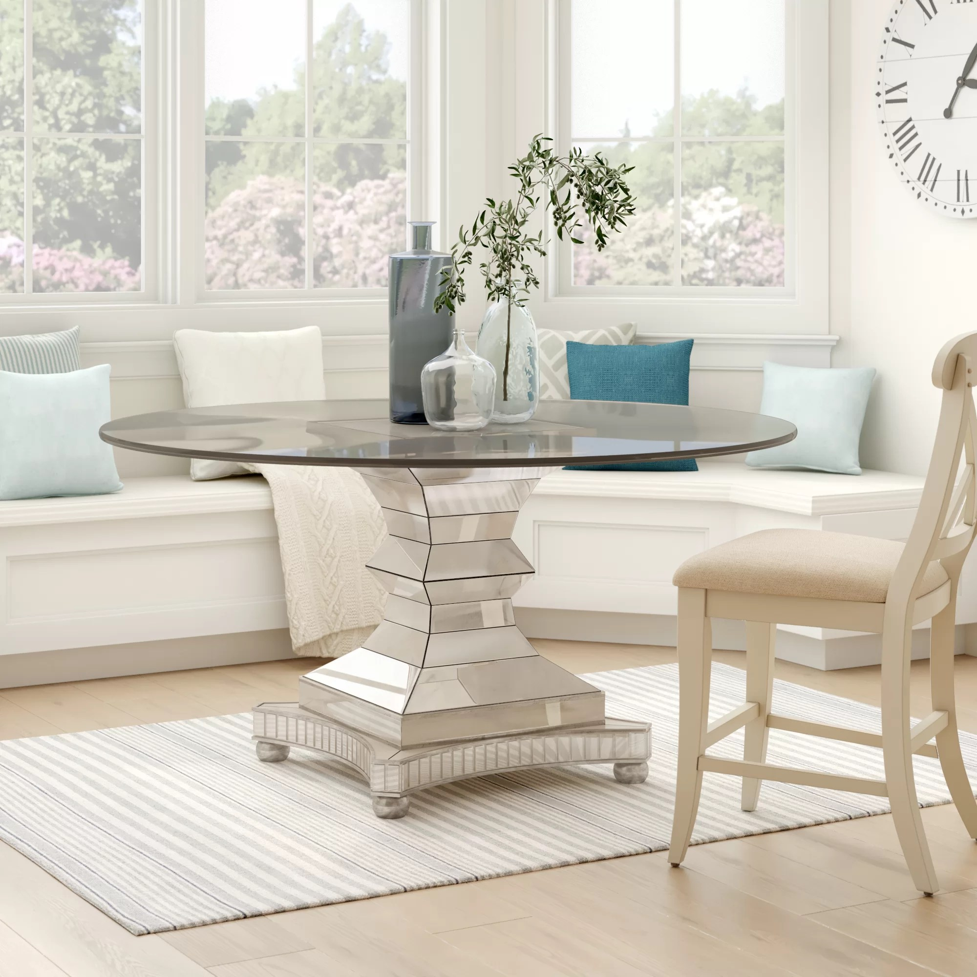 60 Inches Pedestal Kitchen Dining Tables You Ll Love In 2020 Wayfair