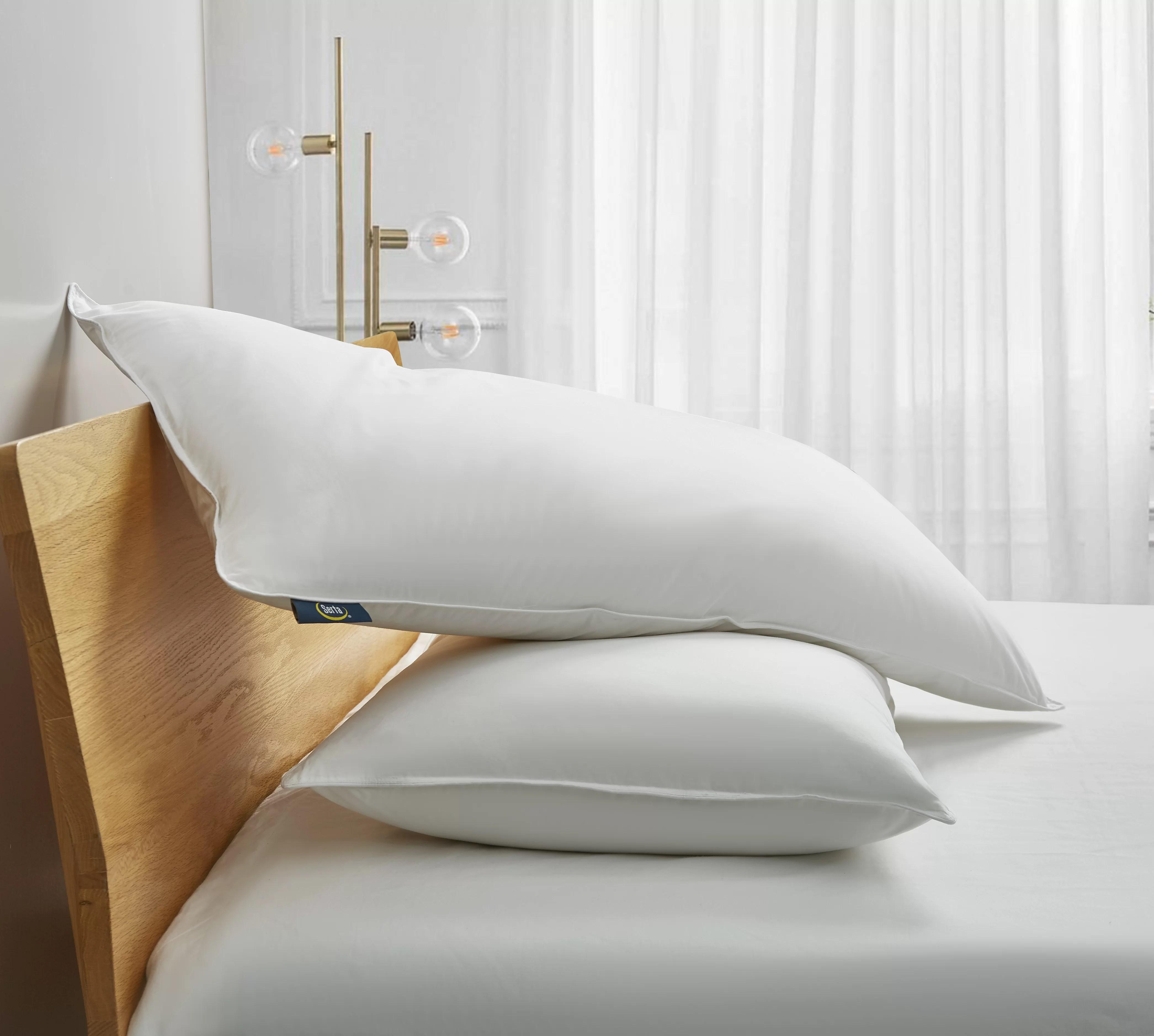 serta 233 thread medium down blend bed pillow wayfair
