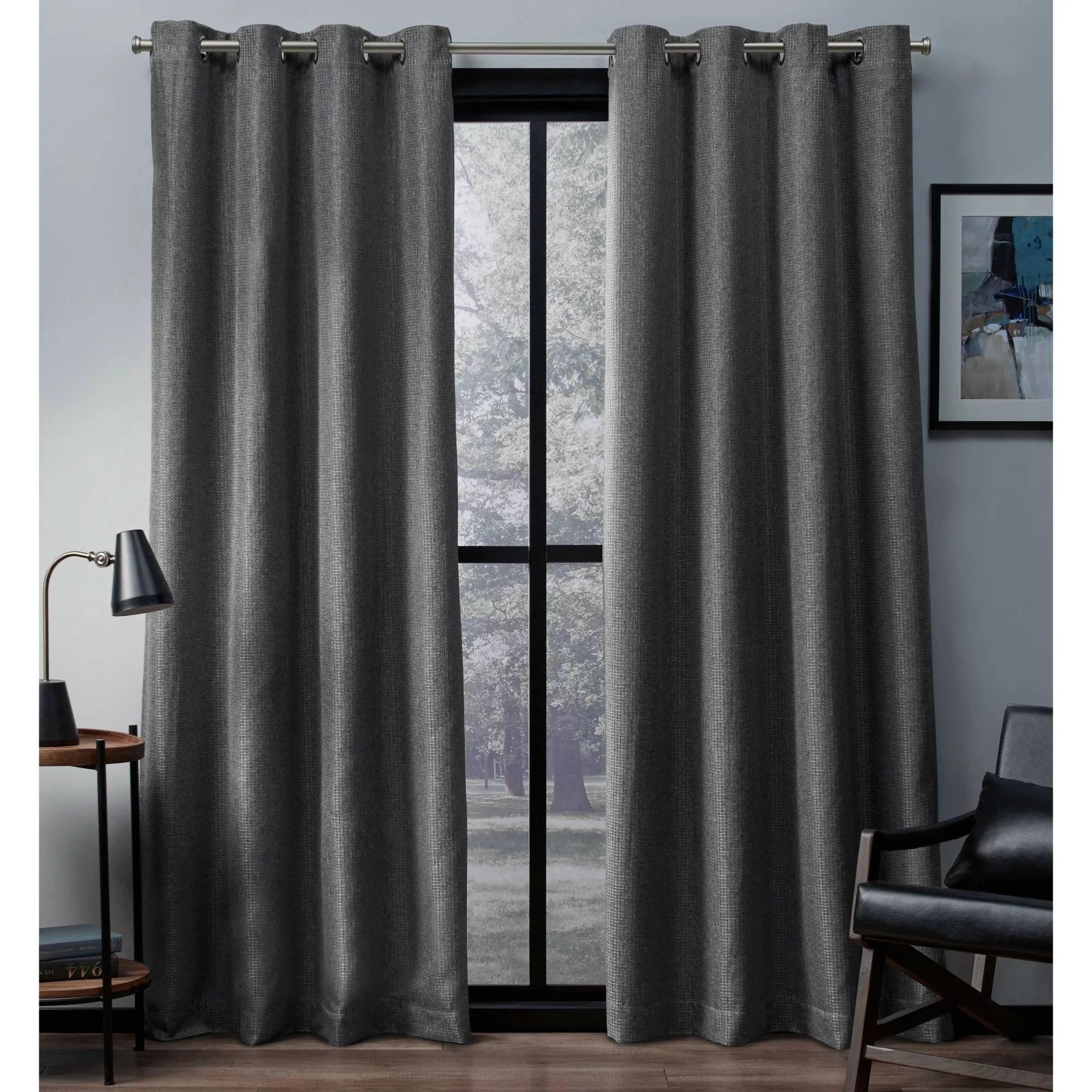 dayse eglinton woven solid room darkening thermal grommet curtain panels